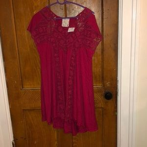 free people/anthropologie dress, comes with slip
